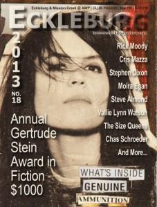 """Salvage."" Doctor T.J. Eckleburg 18 (2013): 164-71. Print. 1st Place Gertrude Stein Award"